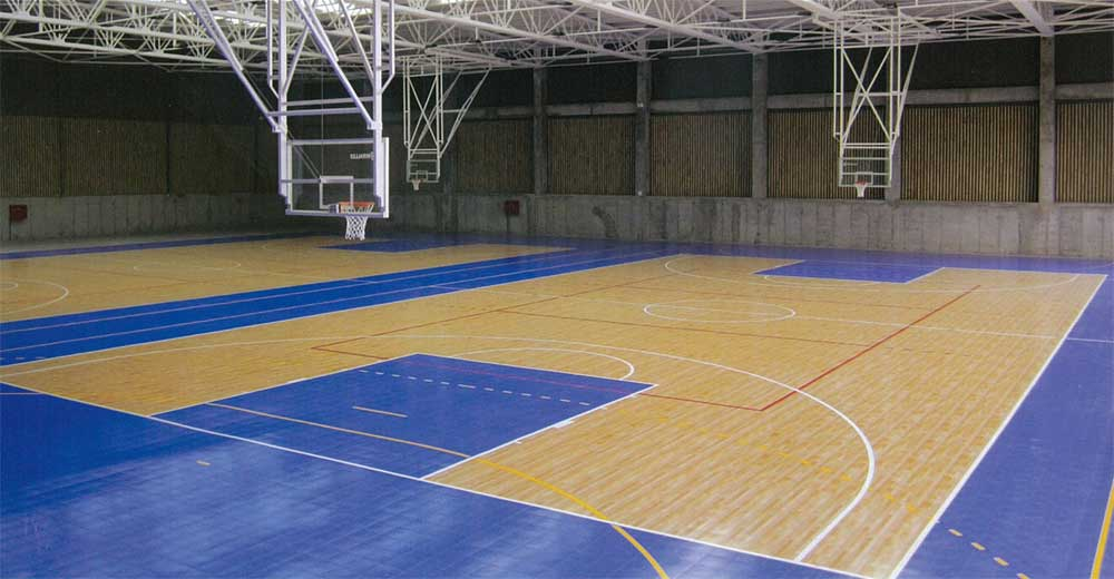 International sports surfaces suspended indoor court for Indoor sport court