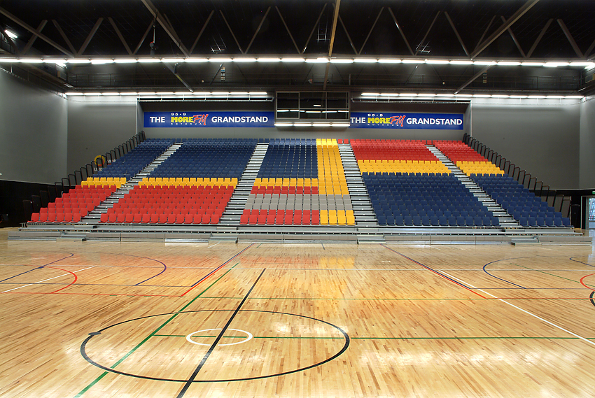 Rotorua Events Centre Gymnasium Stadium Floor and Seating