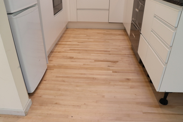 residential maple flooring done by ISS